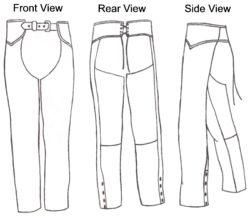 Custom Fit Leather Chaps Pattern