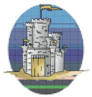 Castle Cross Stitch Pattern