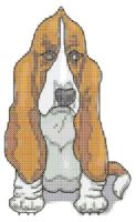 Bassett Hound Cross Stitch Pattern