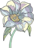 White Flower Cross Stitch Pattern